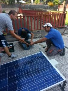Il montaggio del pannello fotovoltaico