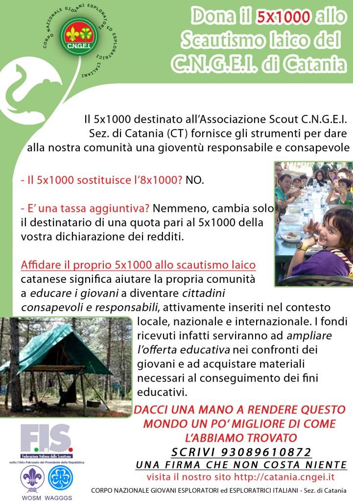 cinque per mille scautismo siciliano laico cngei